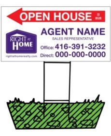 right at home directional sign