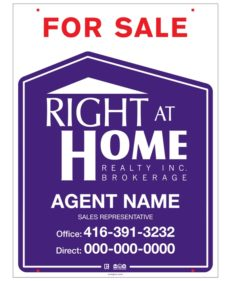 right at home for sale sign